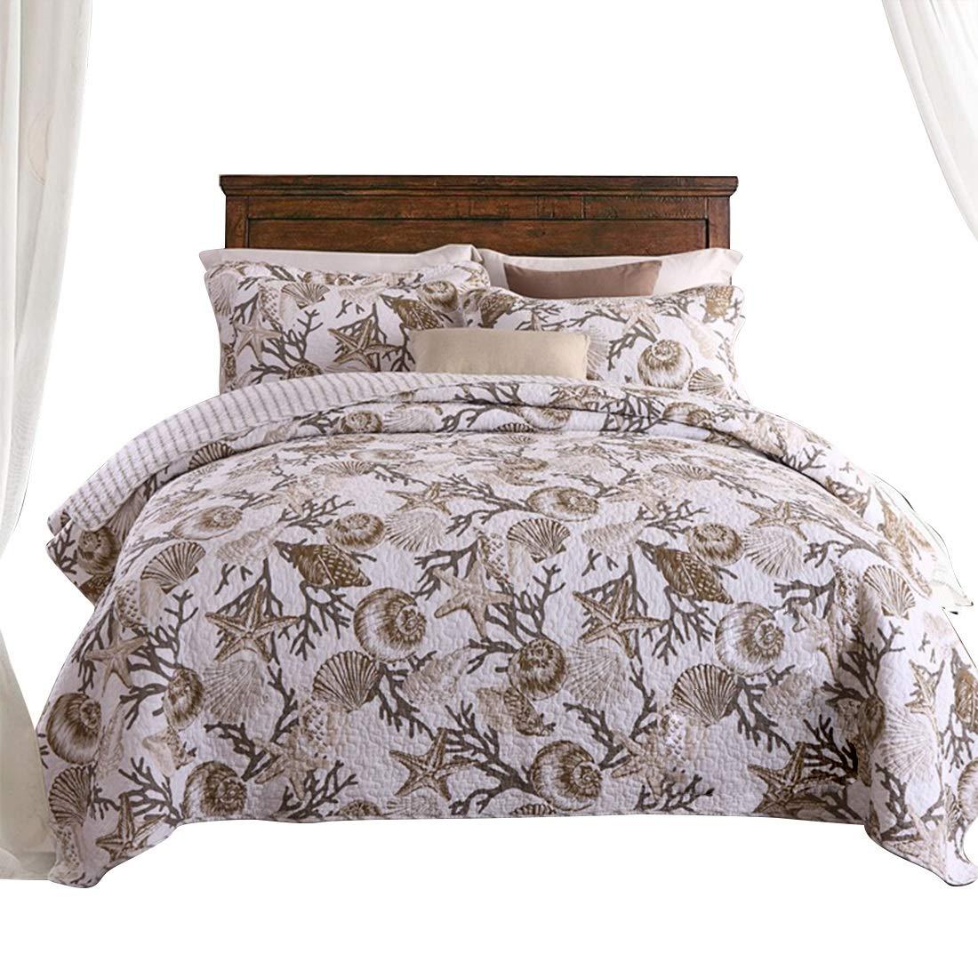 Koloeplf ピュアコットンウォッシュコットンエアコンで夏涼しく寝具3枚セット (Size : QUEEN) B07NRPS4C5