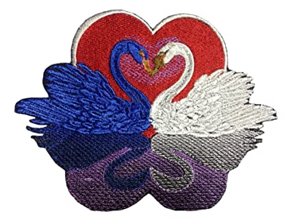 Amazon swan patch iron on embroidered patch applique sew on