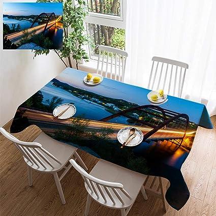 Amazon com: HOOMORE Simple Color Cotton Linen Tablecloth