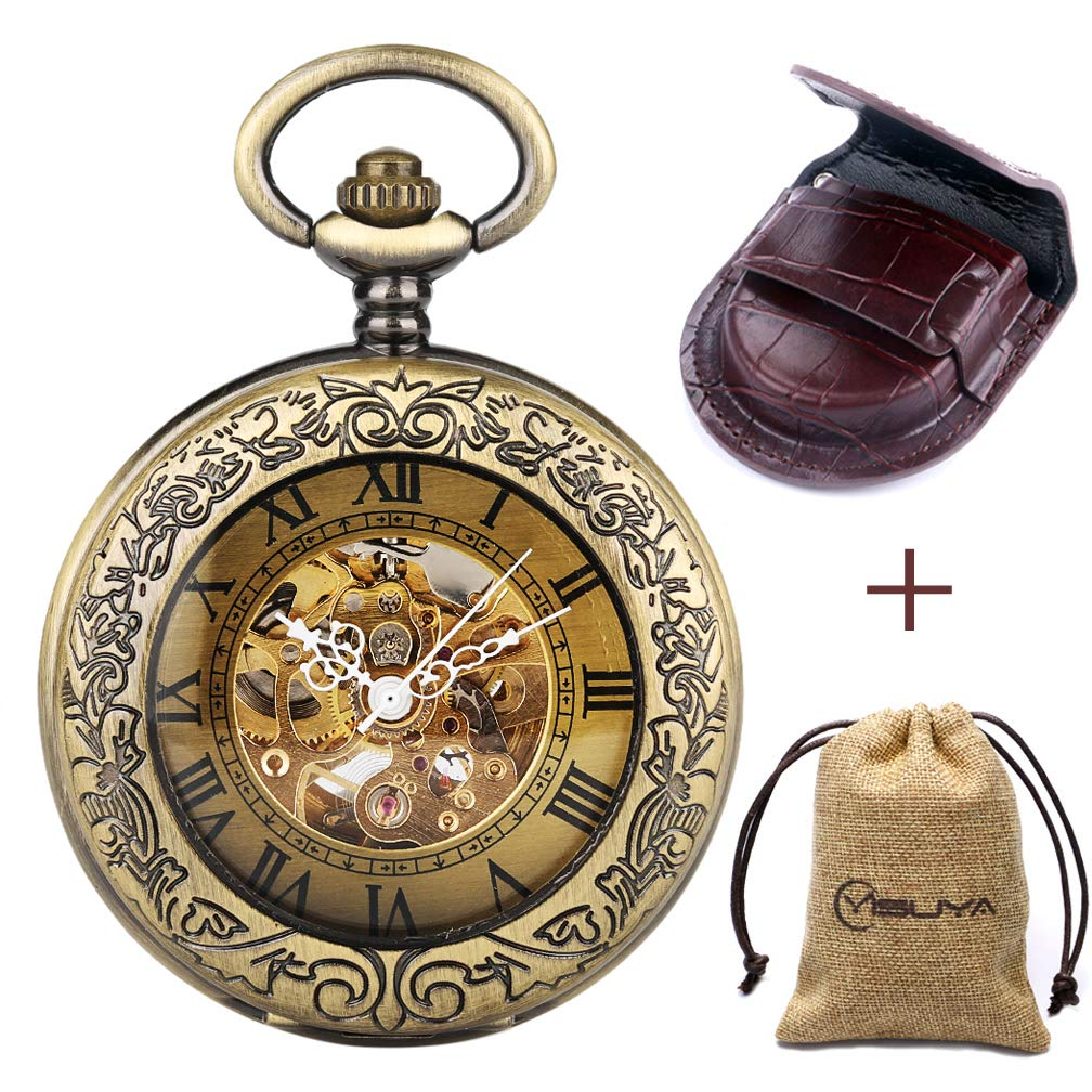 Retro Bronze Automatic Mechanical Pocket Watch (Bronze)