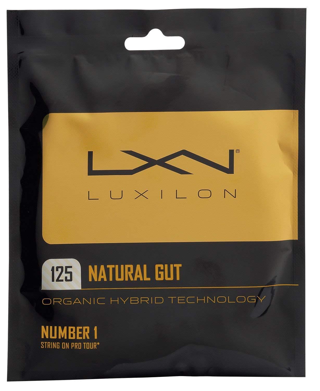 Luxilon Natural Gut 17 Gauge Tennis Racquet String Sets 2-Pack (2 Sets Per Order) - Best for Comfort and Control