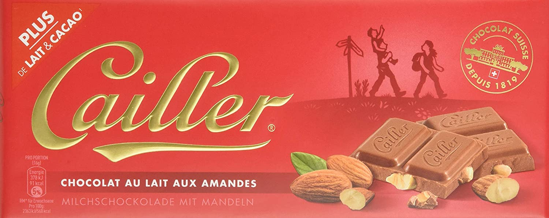 Cailler, Galleta fresca de oblea (con almendras molidas 31%) - 10 de 100 gr. (Total 1000 gr.): Amazon.es: Alimentación y bebidas