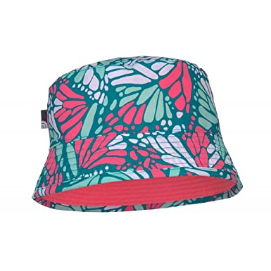 0f423fa6302cd The North Face Kids Sun Stash Bucket Hat - Green-Pink  Amazon.co.uk   Clothing