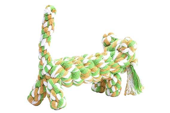 Giocattoli della corda del cotone della mastica del cane giocattolo della tigre della corda durevole del giocattolo Piccoli medie dimensioni del cane che mordono i giocattoli denti di salute che puliscono il regalo 2 colori