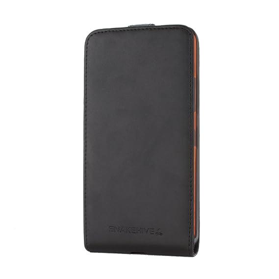 super popular f3cf9 ca593 Snakehive Microsoft Lumia 640 XL Premium Leather Flip Case Cover for  Microsoft Lumia 640 XL (Black)