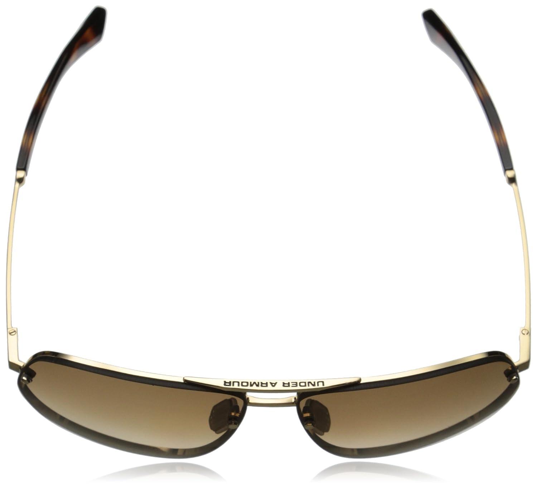 8600084-949627 Under Armour Eyewear Hi-Roll Sunglasses UA HI-ROLL Shiny Gold//Dark Crystal INY Tortoise//Brown Gradient L//XL Under Armour Sunglasses EyeKing