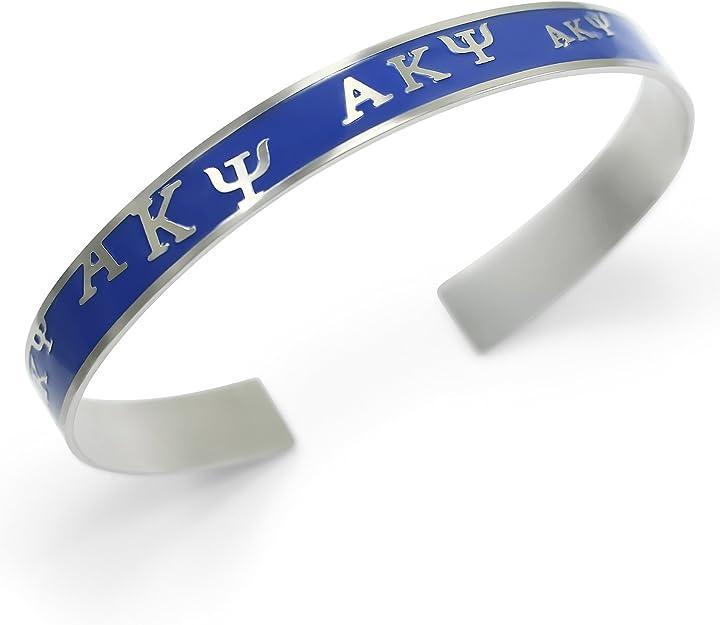 The Collegiate Standard Delta Gamma Sorority Bangle Cuff Bracelet Light Blue