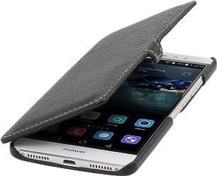 StilGut Book Type avec Clip, Housse en Cuir pour Huawei Mate S, en Noir