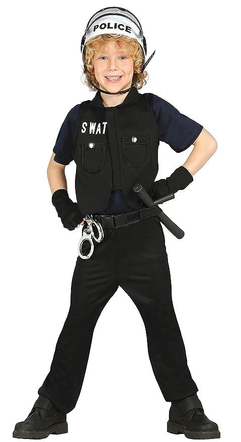 Guirca Costume SWAT poliziotto carnevale bambino 8564   Amazon.it ... 67a2d6520d5c