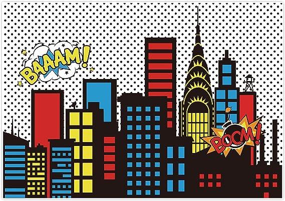 Allenjoy Superhelden Themen Hintergrund Stadtbild Kamera