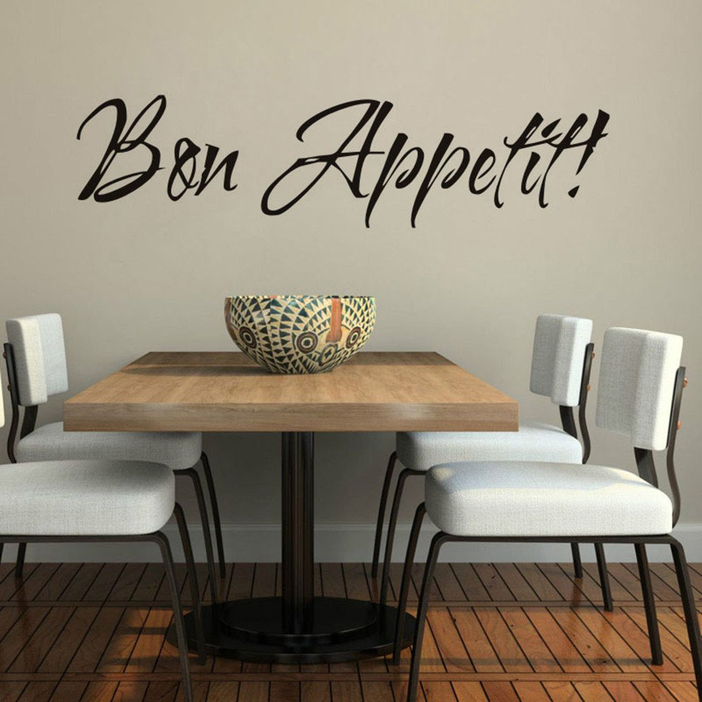 Iusun Removable Bon Appetit Wall Stickers Dinning Room Kitchen Decor Home Decals