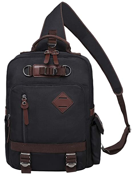 5b3cc5a26f3 Image Unavailable. Image not available for. Color  Mygreen Stylish Shoulder  Backpack Travel Rucksack Sling Bag Cross Body ...