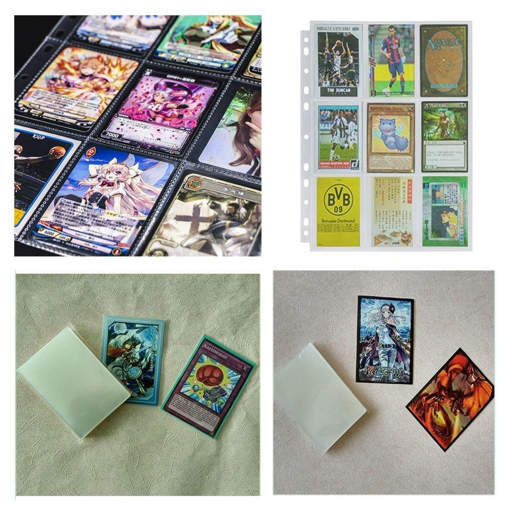 BigLion Trading Card Sleeves Collectors Albumes para Jugar y Coleccionar Pokemon 60 Hojas de 9 Bolsillos
