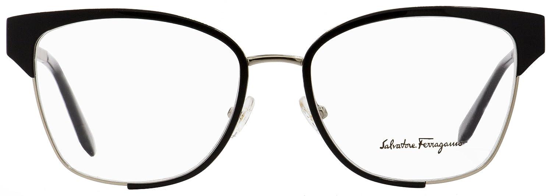57cf223d86 Amazon.com  Eyeglasses FERRAGAMO SF 2157 703 LIGHT GOLD BLACK  Clothing