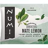 Numi Organic Tea Mate Lemon, 100 Count (Pack of 1) Box of Tea Bags, Yerba Mate Green Tea Blend (Packaging May Vary)