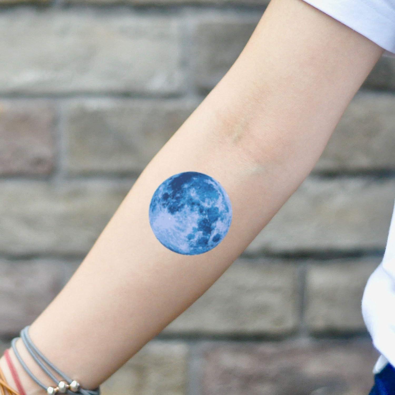Amazoncom Blue Moon Temporary Tattoo Sticker Set Of 2