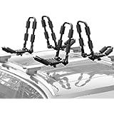 XCAR Folding Kayak Rack 4pcs/Set Black Rooftop Cargo Carrier for SUP,Canoe,Kayak,Surf Board Top Mount Car SUV Crossbar