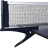 Yiliaw Collapsible Table Tennis Net Professional Steel Ping Pong Net Clip Grip Mesh Training Competition Portable Tension Adjustable Post,for Adults & Kids