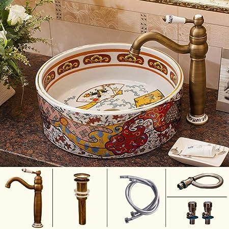 Antico Lavello In Ceramica.Night Wall Unico Lavabo Da Appoggio In Ceramica Antico Lavabo Lavabo Da Bagno Quadrato Casa Bagno Combola Vasca Da Bagno Vanity Vessel Lavabo Adatto Per Bagni Di Hotel Bar Case Bagni Caffe
