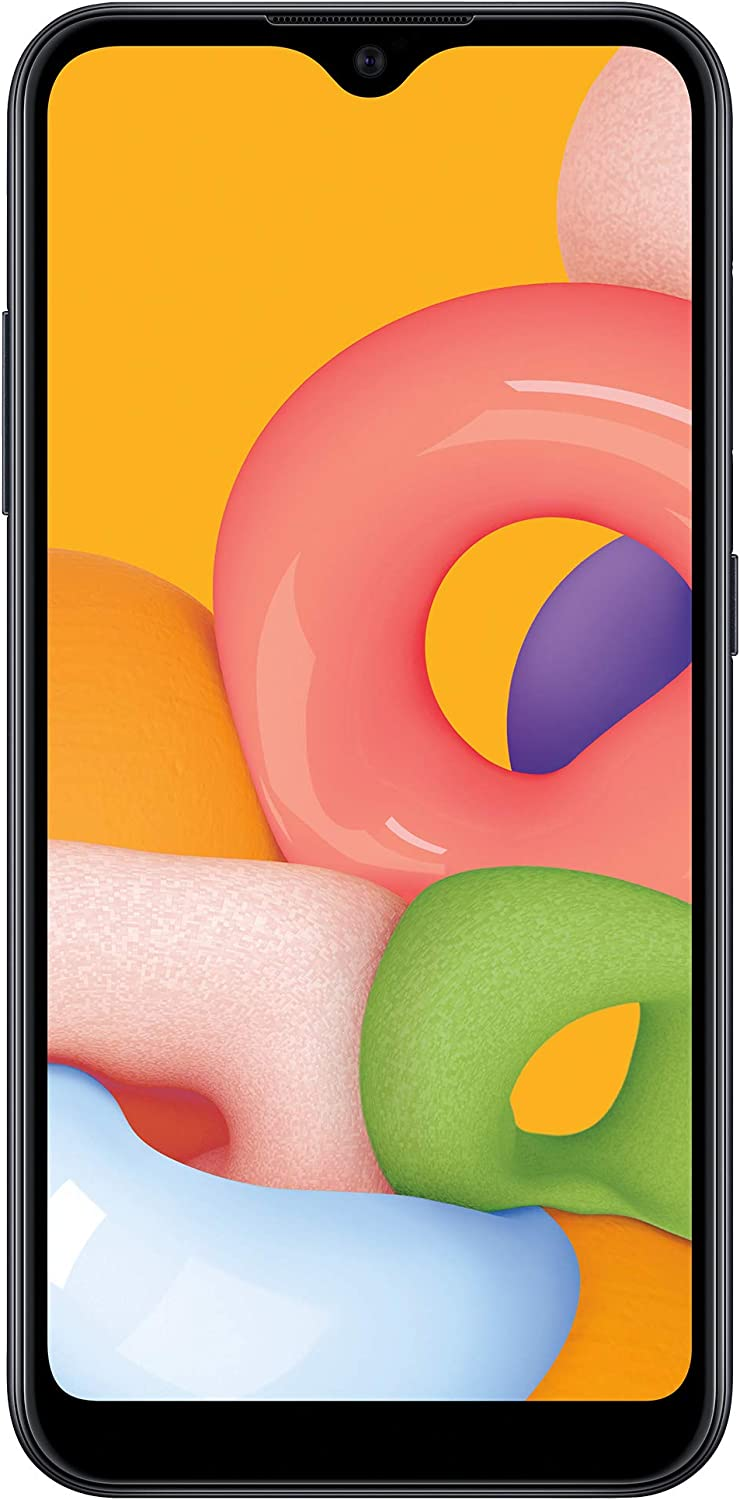 Net10 Samsung Galaxy A01 4G LTE Prepaid Smartphone - Black - 16GB - Sim Card Included -CDMA (NTSAS111DCWHP)