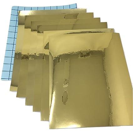 Amazon 7 Pack Qbc Craft Gold Chrome Mirror Permanent Vinyl