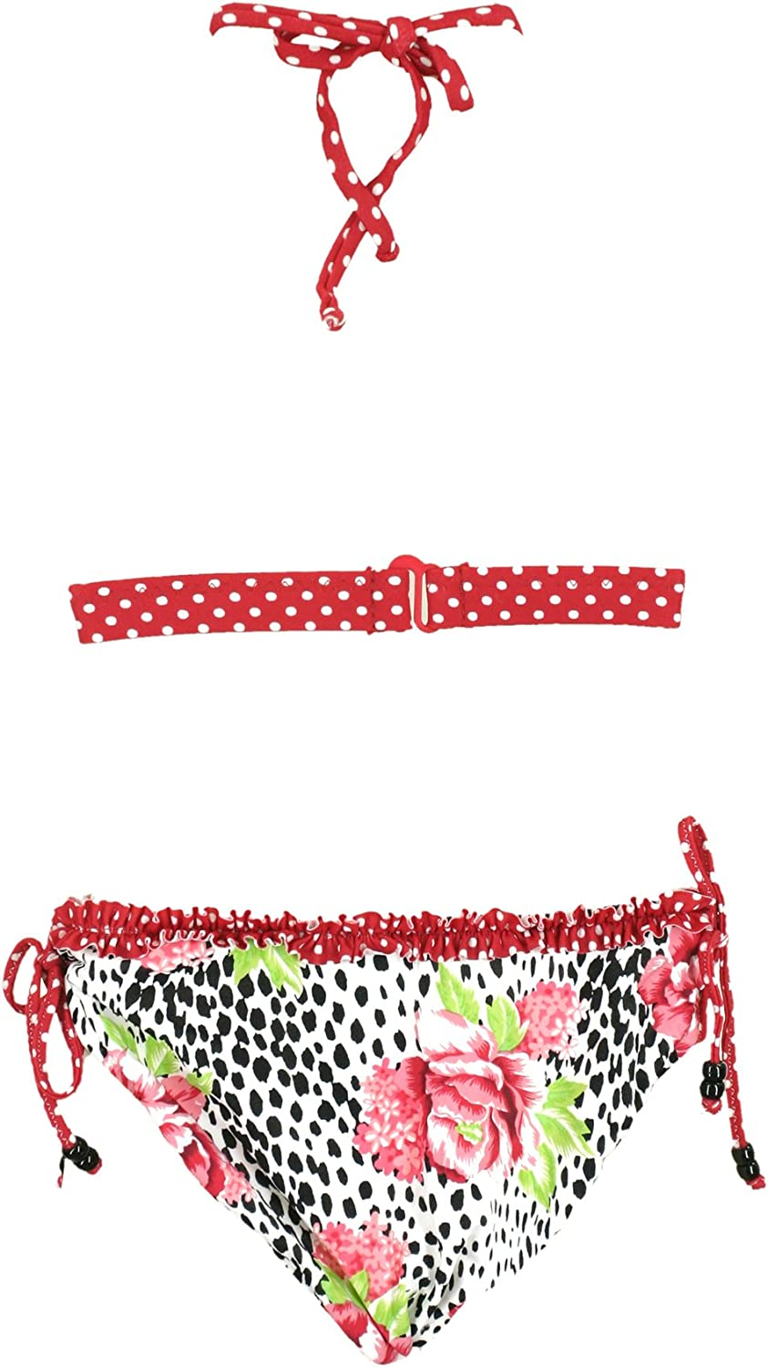 Point Conception Girls Ruffle Bikini Set La Rosa
