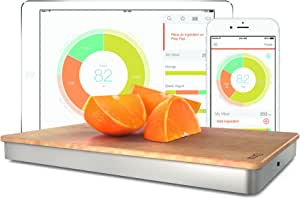 The Orange Chef Prep Pad- Smart Food Scale, Silver