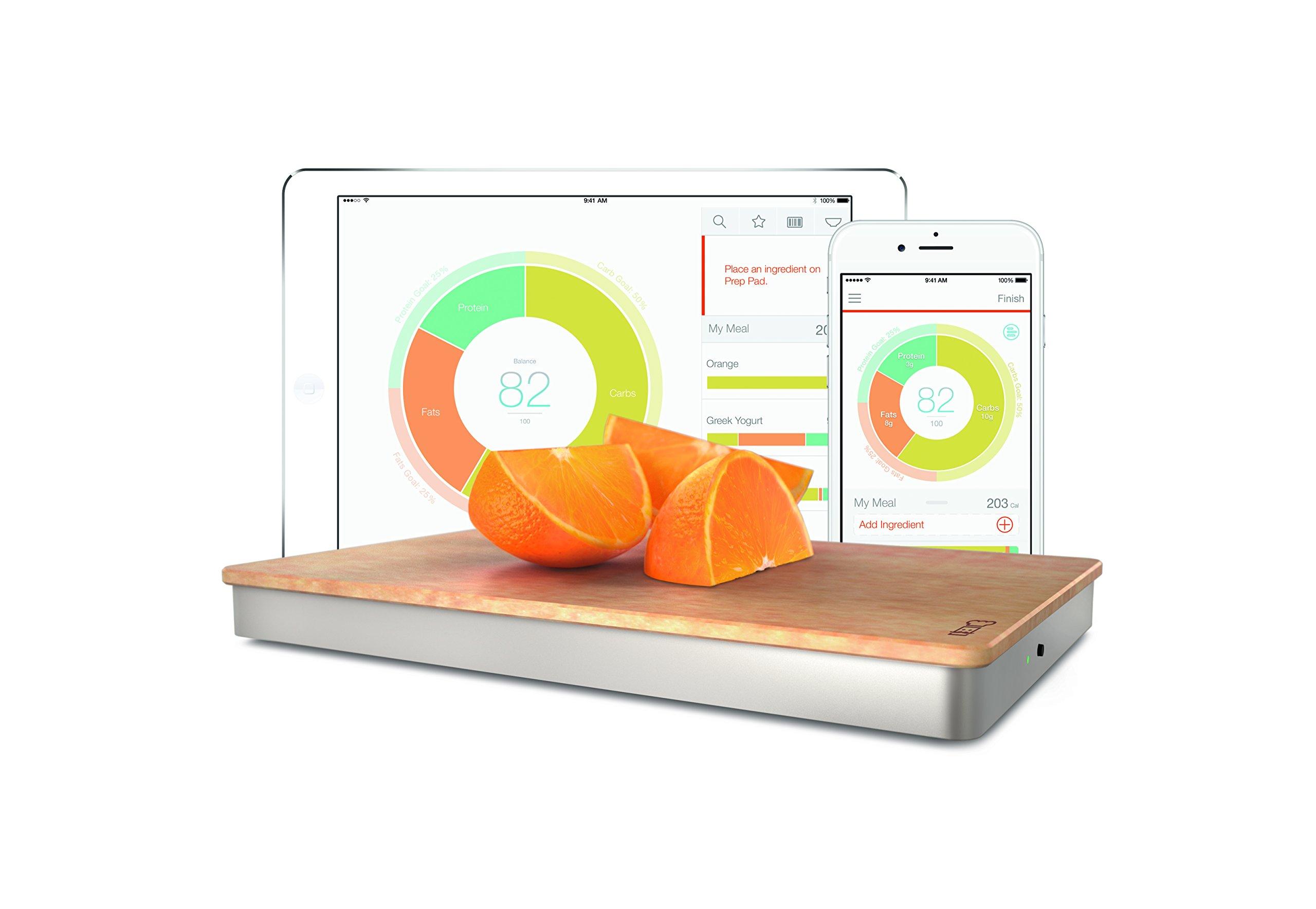 The Orange Chef Prep Pad- Smart Food Scale, Silver