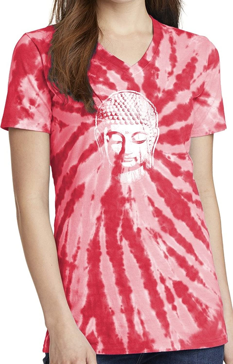 Yoga Clothing For You Ladies Little Buddha Tie Dye V-neck Tee Shirt