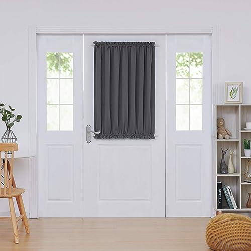 window curtain sizes deconovo door curtains thermal insulated blackout curtain window panel 54x40 inch dark grey curtains amazoncom