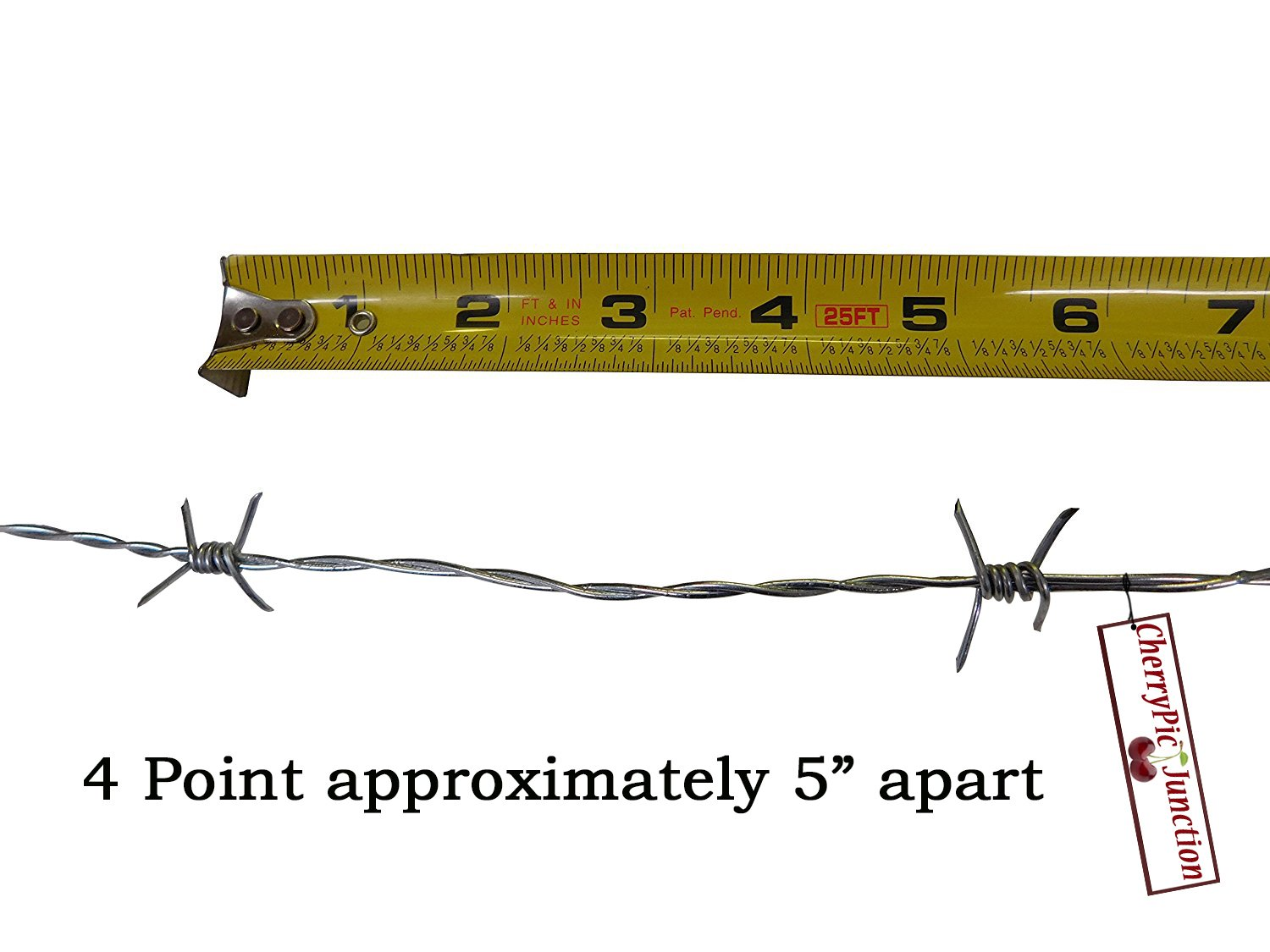 Amazon.com: 25 Feet Real Barbed Wire - Light Duty 18 guage 4 pt MADE ...