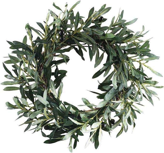 18 Olive wreath faux olive wreath farmhouse wreath farmhouse olive wreath olive decorfarmhouse decor all season wreath thanksgiving