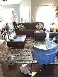 Amazon Com Sauder 418931 Elwood Accent Chair Blue