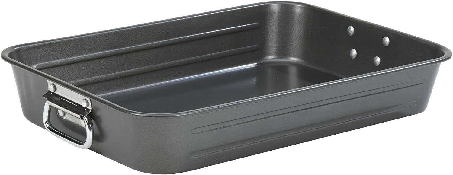 "15 x 11/"" Gray 15 x 11/"" Good Cook Nonstick Large Roast Pan with Rack"
