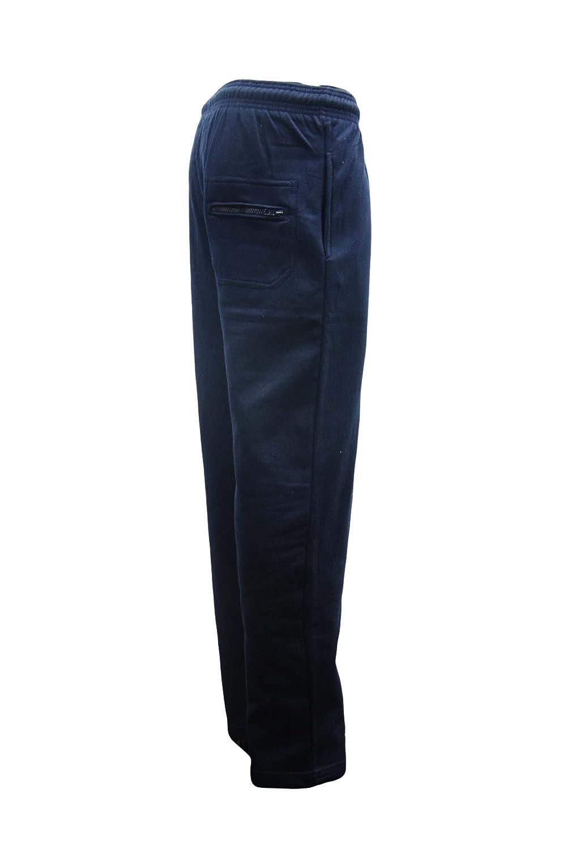 Men's Super Soft Fleece Lined Open Bottom Jogging Trousers Size S-5XL
