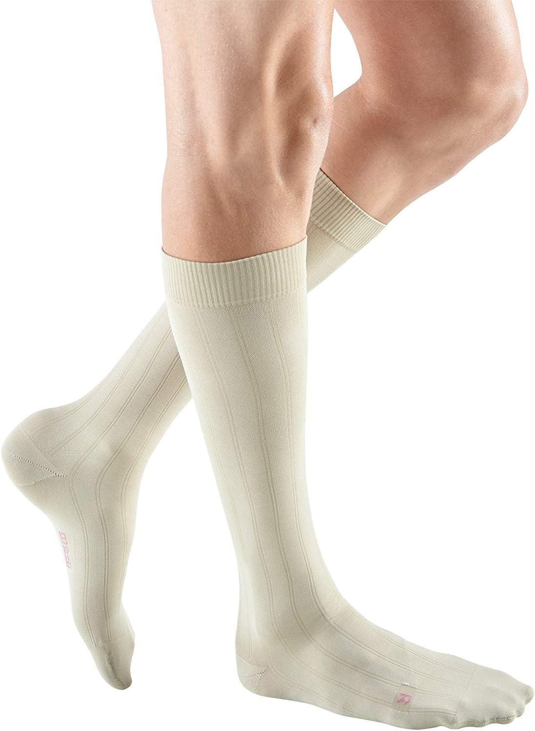 Calf High Compression Stockings mediven for Men Classic Closed Toe 15-20 mmHg