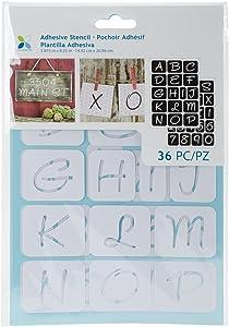 "Momenta 1"" Alphabets Adhesive Stencil"