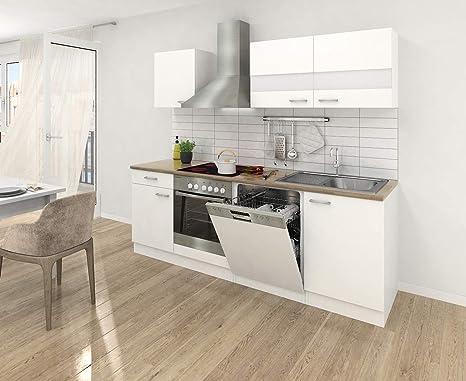 Respekta Kitchen Unit 220 Cm White Dishwasher Kitchen Chimney Hood Kb220wwc Amazon De Kuche Haushalt