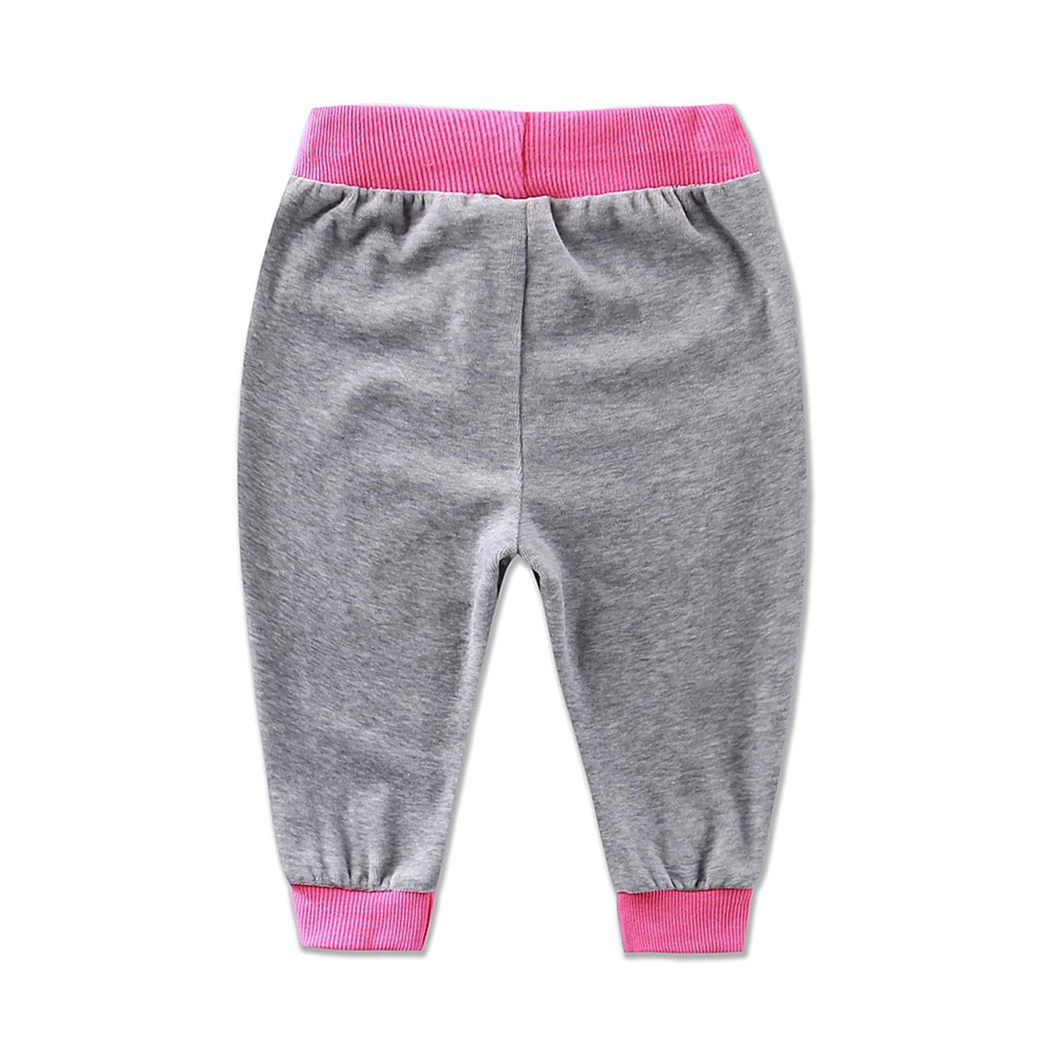 MRxcff Baby Long Pants Velour Trousers Spring Boys and Girls Clothes Elastic Waist Clothing