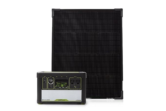 Goal Zero Yeti 400 Lithium Solar Generator Kit with Boulder 50 Solar Panel best home solar panels