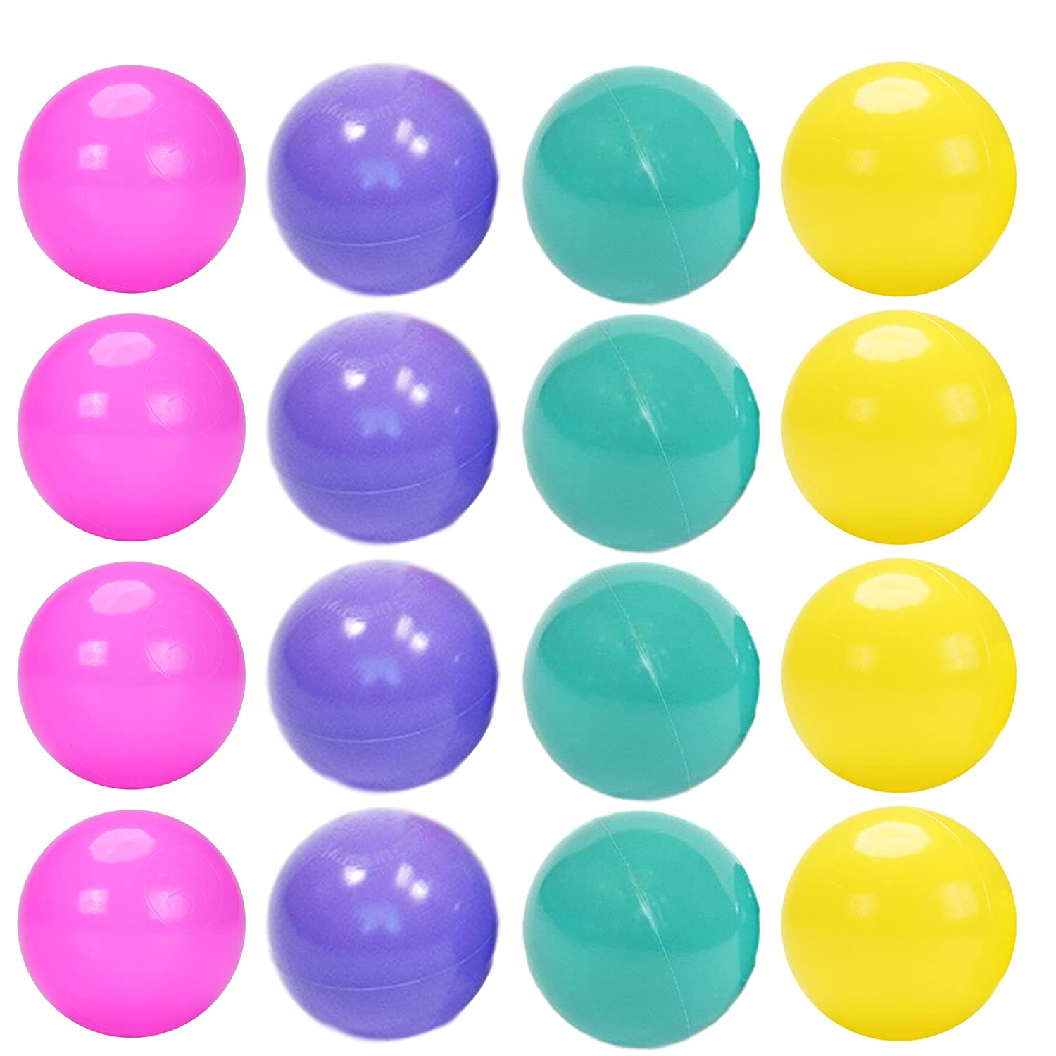 Playz Princess Edition Soft Plastic 200 Play Balls - Crush Proof, No Sharp Edges, Non Toxic, Phthalate & BPA Free - Use in Baby or Toddler Ball Pit, Play Tents & Tunnels for Indoor & Outdoor