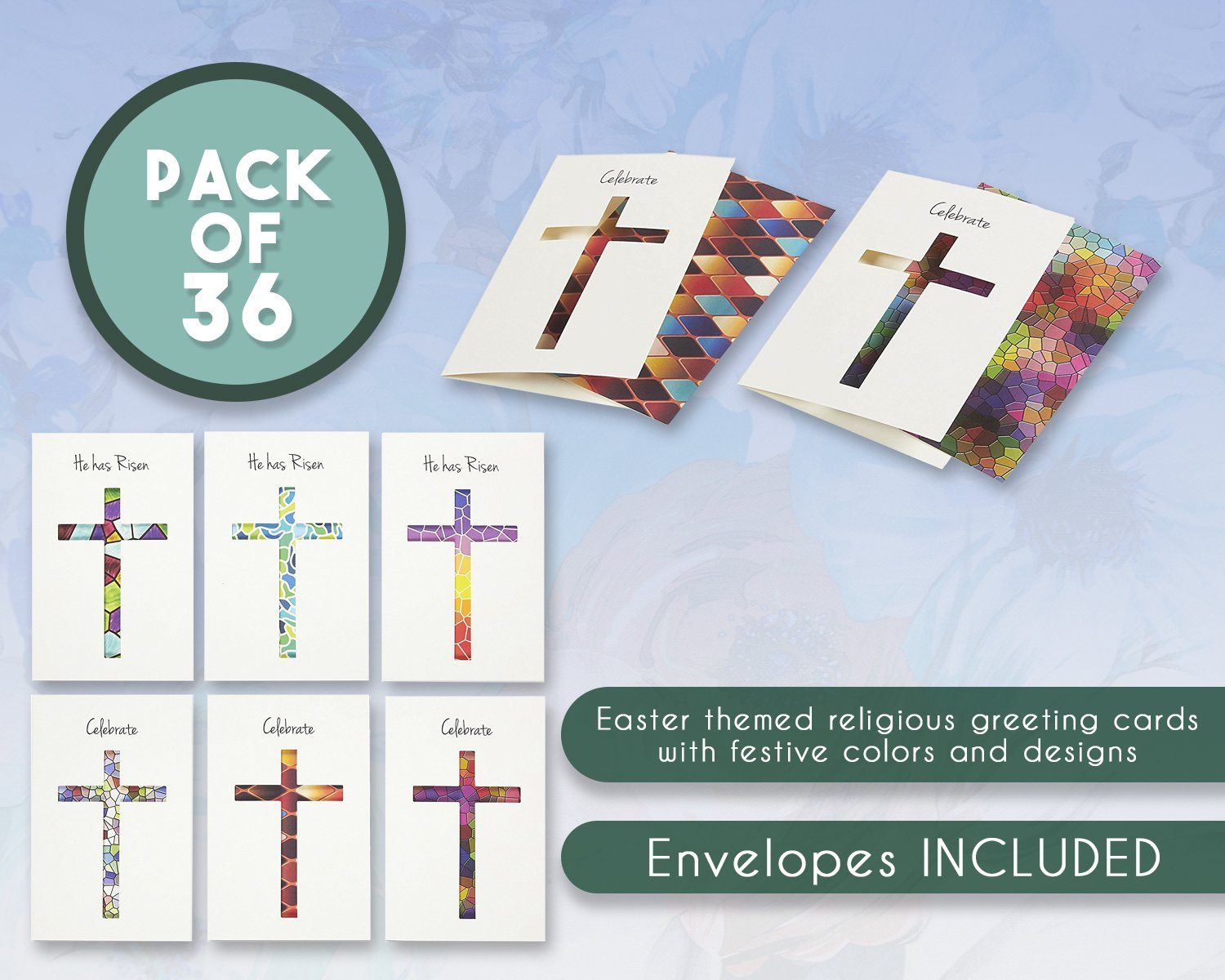 Amazon 36 Pack Easter Greeting Cards Happy Easter Note Cards