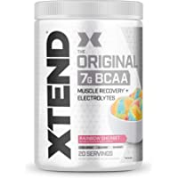 XTEND Original BCAA Powder Rainbow Sherbet | Sugar Free Post Workout Muscle Recovery Drink with Amino Acids | 7g BCAAs…
