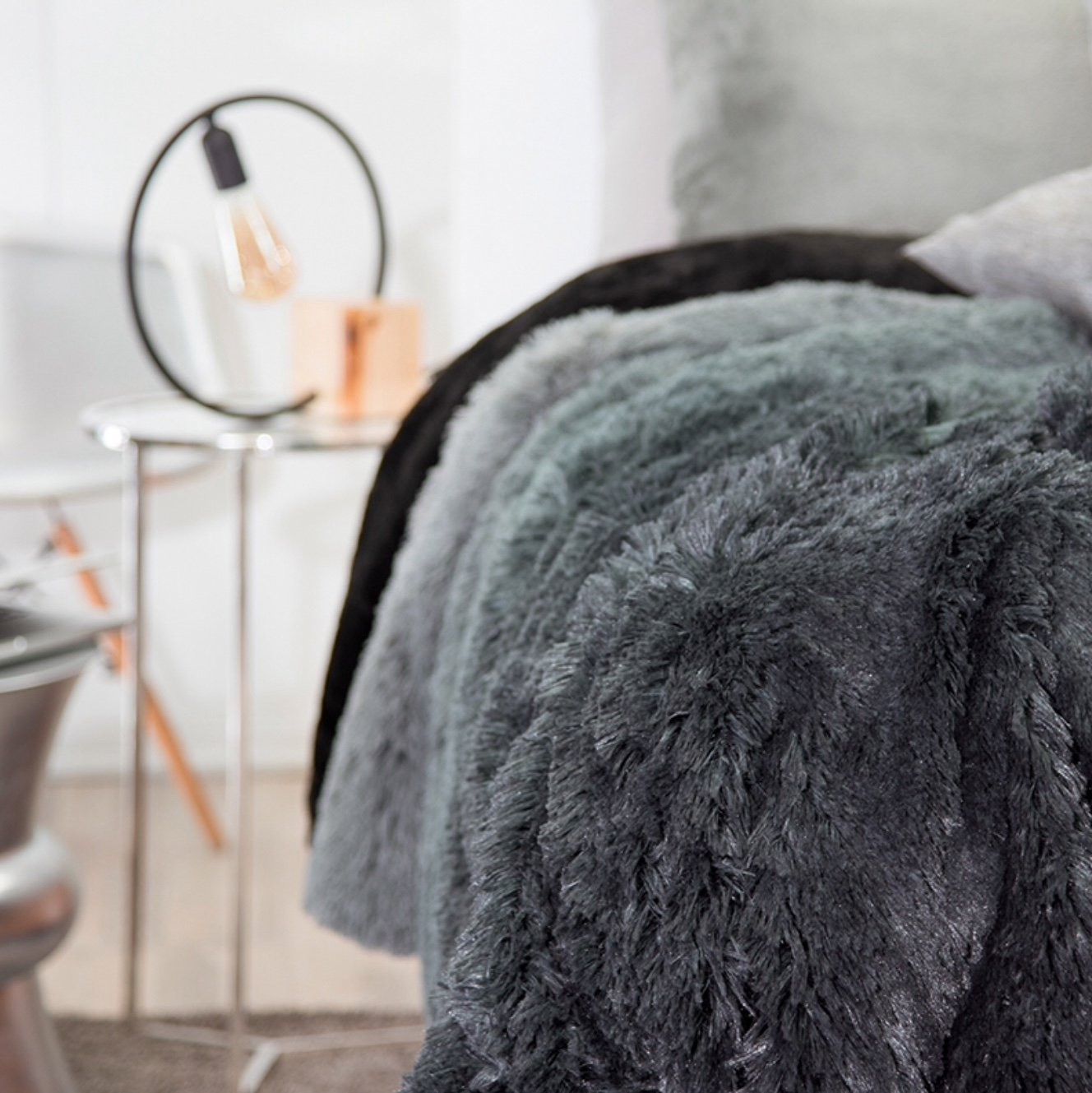 BEST SELLER BELGICA SHAGGY BLANKET WITH SHERPA VERY SOFTY THICK AND WARM KING SIZE