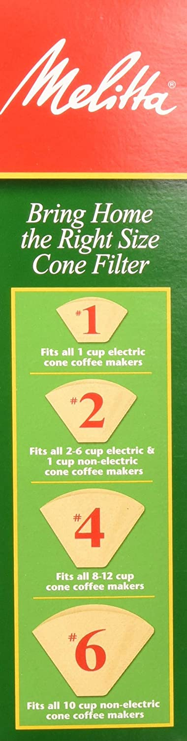 Melitta Number 4 Coffee Filters Natural Brown 100 Count