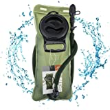 WACOOL 2L 2Liter 70oz Running Cycling Hiking BPA Free Hydration Pack Bladder, Leak-proof Water Reservoir