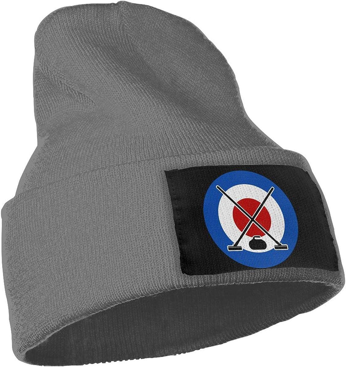 Curling Sport Fashion Skull Beanie WHOO93@Y Mens Womens 100/% Acrylic Knit Hat Cap
