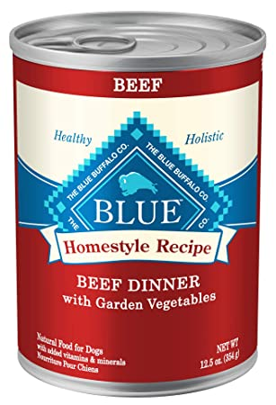 Blue Buffalo Homestyle Recipe Natural Adult Wet Dog Food - Best Wet Food for Dogs with Bladder Stones