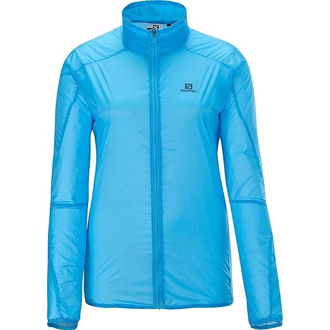 SALOMON S Lab Women's Light Running Jacket Large Blue