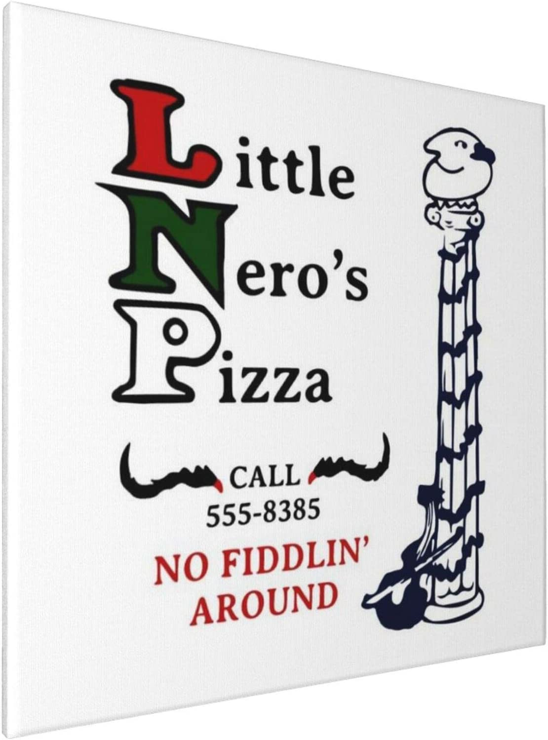 1007 Canvas Prints Wall Art Paintings(20x20in) Little Neros Pizza Home Alone Pictures Home Office Decor Framed Posters & Prints